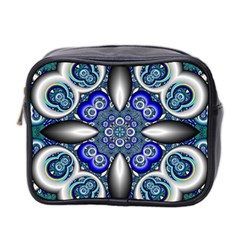 Fractal Cathedral Pattern Mosaic Mini Toiletries Bag 2-Side