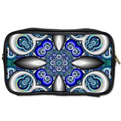 Fractal Cathedral Pattern Mosaic Toiletries Bags 2 Side