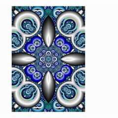 Fractal Cathedral Pattern Mosaic Small Garden Flag (Two Sides)