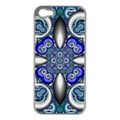 Fractal Cathedral Pattern Mosaic Apple Iphone 5 Case (silver)