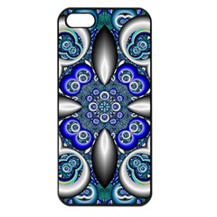 Fractal Cathedral Pattern Mosaic Apple iPhone 5 Seamless Case (Black)