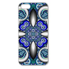 Fractal Cathedral Pattern Mosaic Apple Seamless Iphone 5 Case (clear)