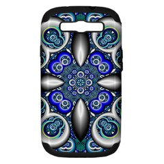 Fractal Cathedral Pattern Mosaic Samsung Galaxy S III Hardshell Case (PC+Silicone)