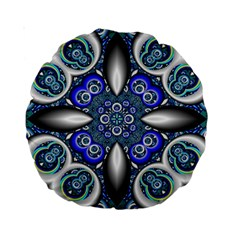 Fractal Cathedral Pattern Mosaic Standard 15  Premium Round Cushions