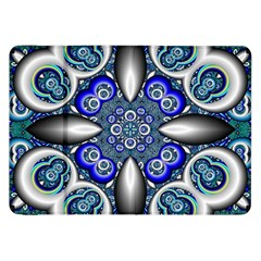 Fractal Cathedral Pattern Mosaic Samsung Galaxy Tab 8.9  P7300 Flip Case