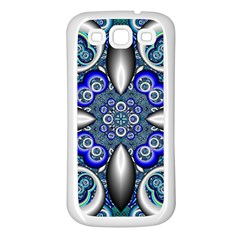 Fractal Cathedral Pattern Mosaic Samsung Galaxy S3 Back Case (White)