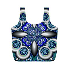 Fractal Cathedral Pattern Mosaic Full Print Recycle Bags (M)