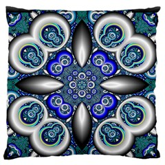 Fractal Cathedral Pattern Mosaic Standard Flano Cushion Case (two Sides)