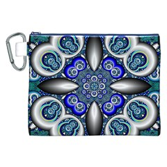 Fractal Cathedral Pattern Mosaic Canvas Cosmetic Bag (xxl)