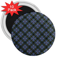 Space Wallpaper Pattern Spaceship 3  Magnets (10 pack)