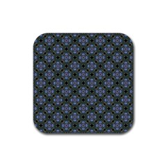 Space Wallpaper Pattern Spaceship Rubber Coaster (square)