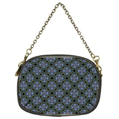 Space Wallpaper Pattern Spaceship Chain Purses (one Side)
