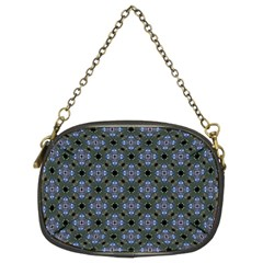 Space Wallpaper Pattern Spaceship Chain Purses (two Sides)