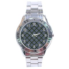 Space Wallpaper Pattern Spaceship Stainless Steel Analogue Watch