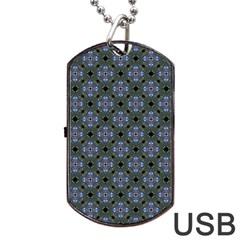 Space Wallpaper Pattern Spaceship Dog Tag USB Flash (Two Sides)
