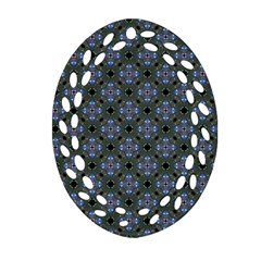 Space Wallpaper Pattern Spaceship Ornament (oval Filigree)