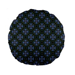 Space Wallpaper Pattern Spaceship Standard 15  Premium Round Cushions