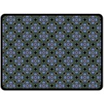 Space Wallpaper Pattern Spaceship Double Sided Fleece Blanket (Large)  80 x60 Blanket Front