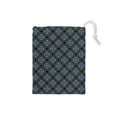 Space Wallpaper Pattern Spaceship Drawstring Pouches (small)