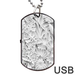 Pattern Motif Decor Dog Tag Usb Flash (two Sides)
