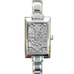 Pattern Motif Decor Rectangle Italian Charm Watch
