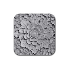 Pattern Motif Decor Rubber Coaster (Square)