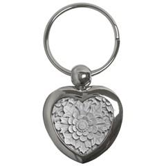 Pattern Motif Decor Key Chains (heart)
