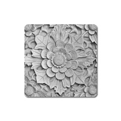 Pattern Motif Decor Square Magnet