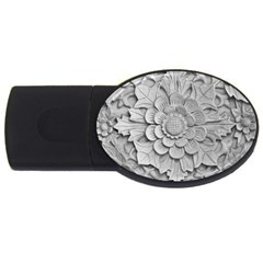 Pattern Motif Decor USB Flash Drive Oval (1 GB)