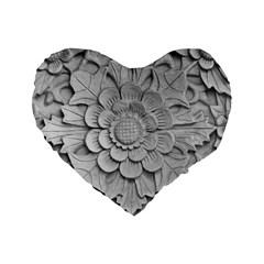Pattern Motif Decor Standard 16  Premium Heart Shape Cushions