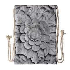 Pattern Motif Decor Drawstring Bag (Large)