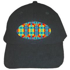 Pop Art Abstract Design Pattern Black Cap