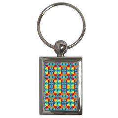 Pop Art Abstract Design Pattern Key Chains (rectangle)