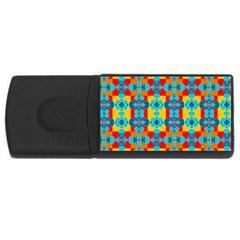 Pop Art Abstract Design Pattern USB Flash Drive Rectangular (2 GB)