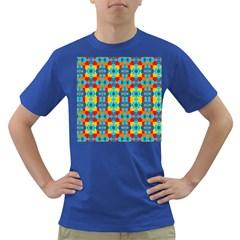 Pop Art Abstract Design Pattern Dark T-Shirt