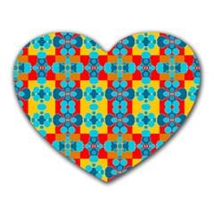 Pop Art Abstract Design Pattern Heart Mousepads