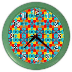 Pop Art Abstract Design Pattern Color Wall Clocks