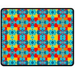 Pop Art Abstract Design Pattern Fleece Blanket (medium)