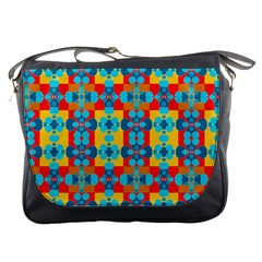 Pop Art Abstract Design Pattern Messenger Bags