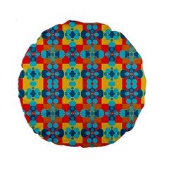Pop Art Abstract Design Pattern Standard 15  Premium Round Cushions