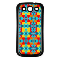 Pop Art Abstract Design Pattern Samsung Galaxy S3 Back Case (Black)