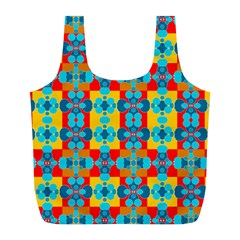 Pop Art Abstract Design Pattern Full Print Recycle Bags (L)