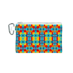Pop Art Abstract Design Pattern Canvas Cosmetic Bag (s)