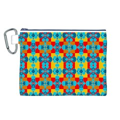 Pop Art Abstract Design Pattern Canvas Cosmetic Bag (L)