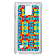 Pop Art Abstract Design Pattern Samsung Galaxy Note 4 Case (white)