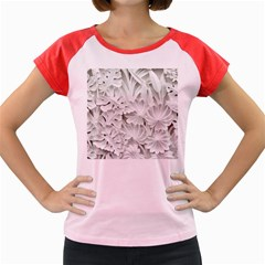Pattern Motif Decor Women s Cap Sleeve T Shirt