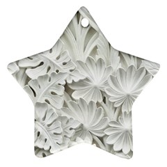 Pattern Motif Decor Star Ornament (two Sides)