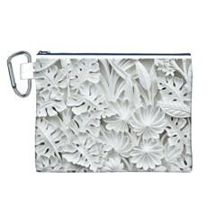 Pattern Motif Decor Canvas Cosmetic Bag (l)