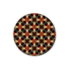 Kaleidoscope Image Background Rubber Round Coaster (4 Pack)