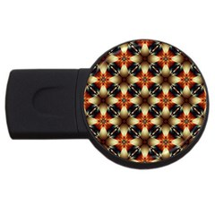 Kaleidoscope Image Background USB Flash Drive Round (4 GB)